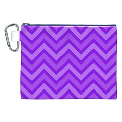 Zig zags pattern Canvas Cosmetic Bag (XXL) by Valentinaart