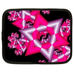 Star Of David On Black Netbook Case (xl)  by Simbadda