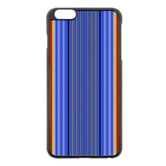 Colorful Stripes Background Apple Iphone 6 Plus/6s Plus Black Enamel Case by Simbadda