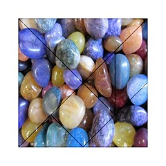 Rock Tumbler Used To Polish A Collection Of Small Colorful Pebbles Acrylic Tangram Puzzle (6  X 6 ) by Simbadda
