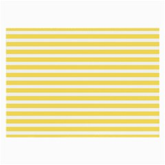 Horizontal Stripes Yellow Large Glasses Cloth (2 Side) by Mariart