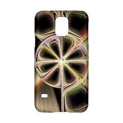 Background With Fractal Crazy Wheel Samsung Galaxy S5 Hardshell Case  by Simbadda