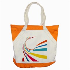 Line Rainbow Orange Blue Yellow Red Pink White Wave Waves Accent Tote Bag