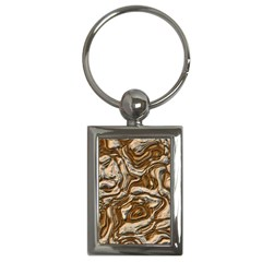 Fractal Background Mud Flow Key Chains (rectangle)  by Simbadda