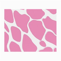 Baby Pink Girl Pattern Colorful Background Small Glasses Cloth (2 Side) by Simbadda
