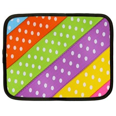 Colorful Easter Ribbon Background Netbook Case (xl)  by Simbadda
