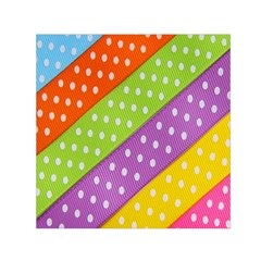 Colorful Easter Ribbon Background Small Satin Scarf (square) by Simbadda