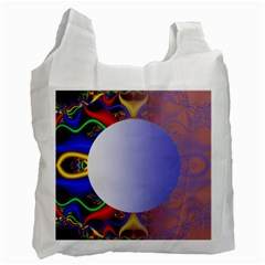 Texture Circle Fractal Frame Recycle Bag (two Side)  by Simbadda