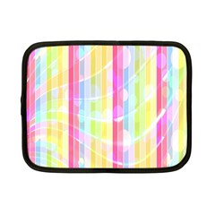 Colorful Abstract Stripes Circles And Waves Wallpaper Background Netbook Case (small)  by Simbadda