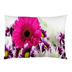 Pink Purple And White Flower Bouquet Pillow Case (two Sides)