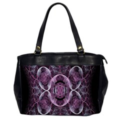 Fractal In Lovely Swirls Of Purple And Blue Office Handbags (2 Sides)  by Simbadda