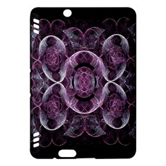 Fractal In Lovely Swirls Of Purple And Blue Kindle Fire Hdx Hardshell Case by Simbadda