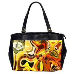 Colourful Abstract Background Design Office Handbags (2 Sides)  by Simbadda