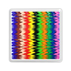 Colorful Liquid Zigzag Stripes Background Wallpaper Memory Card Reader (square)