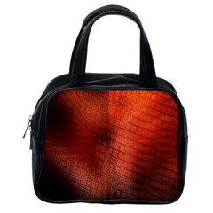 Background Technical Design With Orange Colors And Details Classic Handbags (one Side) by Simbadda
