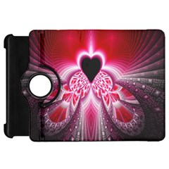 Illuminated Red Hear Red Heart Background With Light Effects Kindle Fire Hd 7  by Simbadda