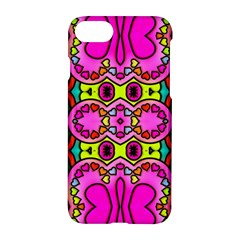Colourful Abstract Background Design Pattern Apple Iphone 7 Hardshell Case by Simbadda