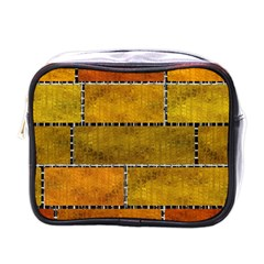 Classic Color Bricks Gradient Wall Mini Toiletries Bags by Simbadda