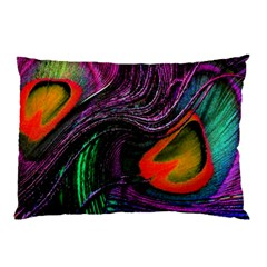 Peacock Feather Rainbow Pillow Case (two Sides)