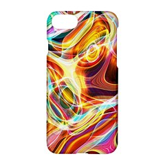 Colourful Abstract Background Design Apple Iphone 7 Hardshell Case by Simbadda