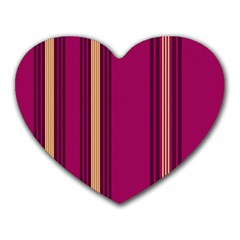 Stripes Background Wallpaper In Purple Maroon And Gold Heart Mousepads by Simbadda