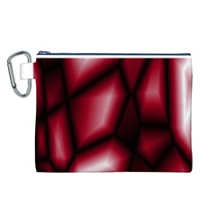 Red Abstract Background Canvas Cosmetic Bag (l) by Simbadda