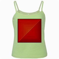 Abstract Clutter Baffled Field Green Spaghetti Tank by Simbadda