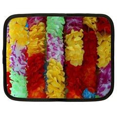 Colorful Hawaiian Lei Flowers Netbook Case (xl)  by Simbadda