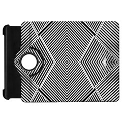 Black And White Line Abstract Kindle Fire Hd 7  by Simbadda