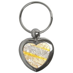 Abstract Composition Pattern Key Chains (heart)  by Simbadda