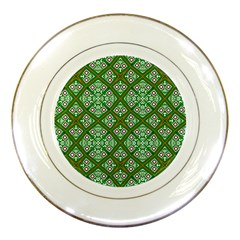 Digital Computer Graphic Seamless Geometric Ornament Porcelain Plates by Simbadda