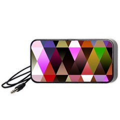 Triangles Abstract Triangle Background Pattern Portable Speaker (black)