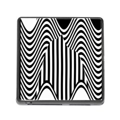 Stripe Abstract Stripped Geometric Background Memory Card Reader (Square) by Simbadda
