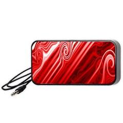 Red Abstract Swirling Pattern Background Wallpaper Portable Speaker (black)