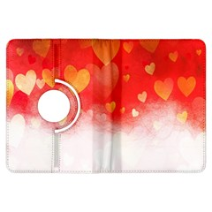 Abstract Love Heart Design Kindle Fire Hdx Flip 360 Case by Simbadda