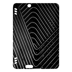 Chrome Abstract Pile Of Chrome Chairs Detail Kindle Fire HDX Hardshell Case by Simbadda