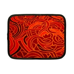 Orange Abstract Background Netbook Case (Small)  by Simbadda