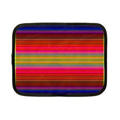 Fiesta Stripe Bright Colorful Neon Stripes Cinco De Mayo Background Netbook Case (small)  by Simbadda
