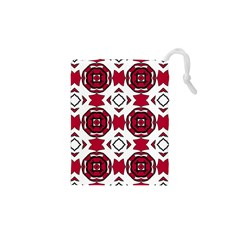 Seamless Abstract Pattern With Red Elements Background Drawstring Pouches (xs)  by Simbadda