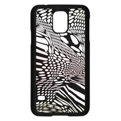 Abstract Fauna Pattern When Zebra And Giraffe Melt Together Samsung Galaxy S5 Case (Black) by Simbadda