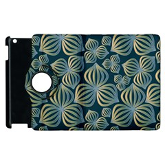 Gradient Flowers Abstract Background Apple iPad 2 Flip 360 Case by Simbadda