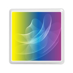 Colorful Guilloche Spiral Pattern Background Memory Card Reader (square)  by Simbadda