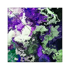Background Abstract With Green And Purple Hues Acrylic Tangram Puzzle (6  X 6 ) by Simbadda