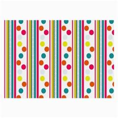 Stripes And Polka Dots Colorful Pattern Wallpaper Background Large Glasses Cloth by Nexatart
