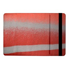 Orange Stripes Colorful Background Textile Cotton Cloth Pattern Stripes Colorful Orange Neo Samsung Galaxy Tab Pro 10 1  Flip Case by Nexatart