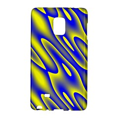 Blue Yellow Wave Abstract Background Galaxy Note Edge by Nexatart