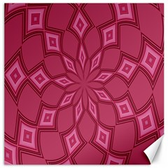 Fusia Abstract Background Element Diamonds Canvas 20  X 20   by Nexatart