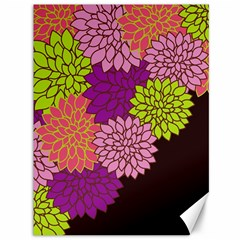 Floral Card Template Bright Colorful Dahlia Flowers Pattern Background Canvas 36  X 48   by Nexatart