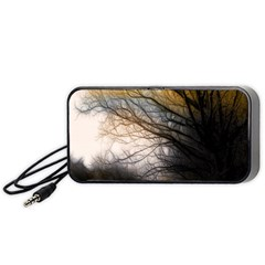 Tree Art Artistic Abstract Background Portable Speaker (Black)