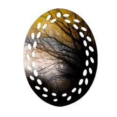 Tree Art Artistic Abstract Background Ornament (oval Filigree) by Nexatart